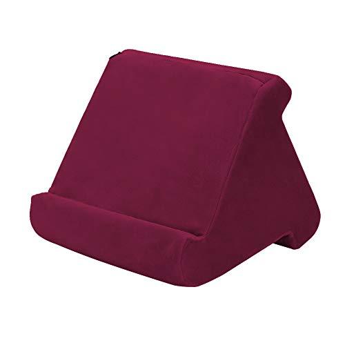 HUGEE Pad Pillow Stand - Supporto per Tablet,Torre per Cuscini Morbidi Multi-Angolo Portatile,Smart Phone Lettori di Libri Digitali Libri e Riviste Riposo Cuscino di Supporto (Rosso)