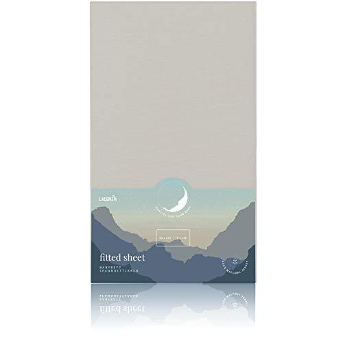 Laleni Spannbettlaken für Babybett Kinderbett - Atmungsaktives Spannbetttuch, 100% Baumwolle, 70x140 cm, Moonlight Grey