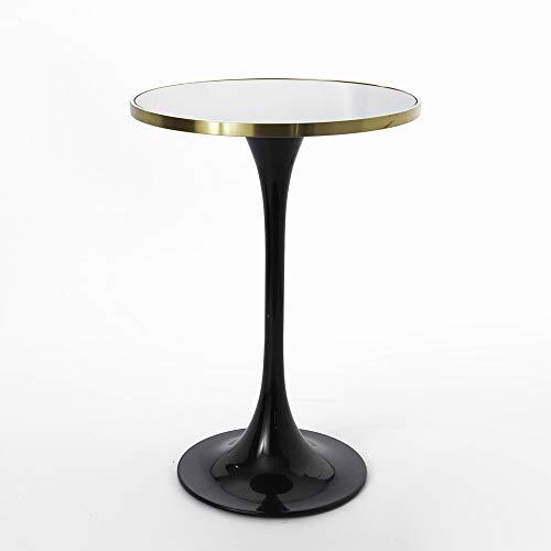 Amadeus - Table Haute Ronde Tulipe Noire l 70 cm x h 100 cm x p 70 cm