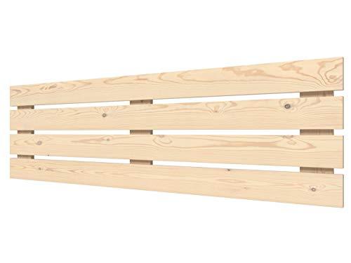 LA WEB DEL COLCHON - Cabecero de Madera Rústico Lombardía para Cama de 180 (190 x 50 cms) Crudo sin Pintar | Cabeceros Madera | Dormitorio Matrimonio | Cabezal Cama |Estilo nórdico