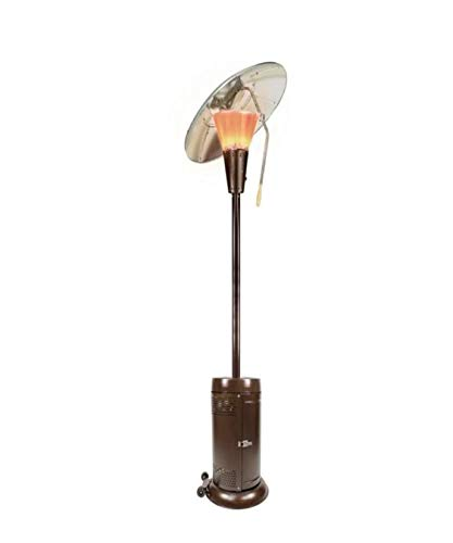 Hampton Bay 38,200 BTU Bronze Heat-focusing Propane Gas Patio Heater Heat-focusing Reflectors Adjust to Offer Excellent Heat Distribution
