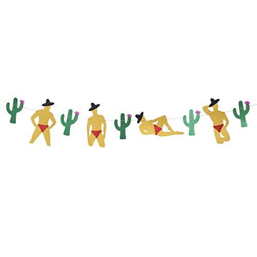Amosfun Cactus Fiesta Banner Mexicaanse thema partij Cactus slinger zomer tropische bruiloft partij Decor 2.5M