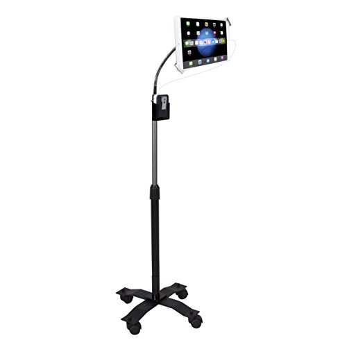 Gooseneck Floor Stand - CTA Compact Security Gooseneck Floor Stand for Tablets with...