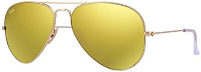 New RAY BAN Sunglasses Authentic RB 3025 112 93 Brown Mirror Gold Lenses AVIATOR 58mm product image