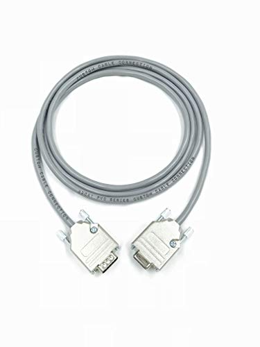 150 Foot DB9 Male to Female RS232 Extension Serial Cable - 24 AWG with Grey PVC Jacket - Made in USA by Custom Cable Connection