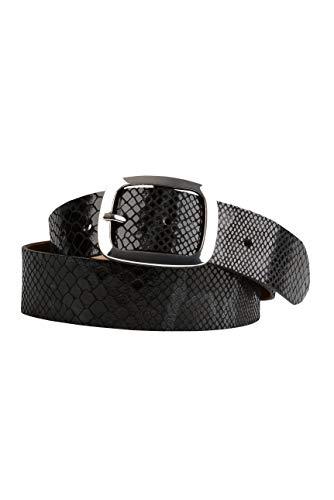 SOCCX Damen Metallic-Gürtel mit Snake-Muster