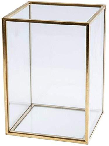 Organizador de brochas de maquillaje, recipiente para guardar pinceles y brochas de maquillaje, cristal transparente, caja de almacenamiento de lujo estilo nórdico