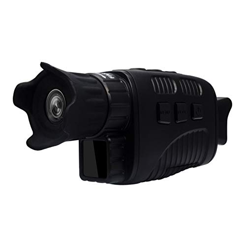 Teleskop Nachtsichtgerät HD Infrarot Nachtsichtgerät Monokular Nachtsichtkamera Digitales Teleskop Für Erwachsene, Kinder, Profi, Anfänger (Color : Black)