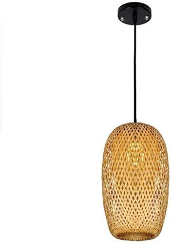 Suge Sombra de bambú de la lámpara colgante de luz natural hecho a mano de mimbre Rattan Pantalla de mimbre de bricolaje lámpara colgante for la cocina Habitación Sala Restaurante Hotel Fixture