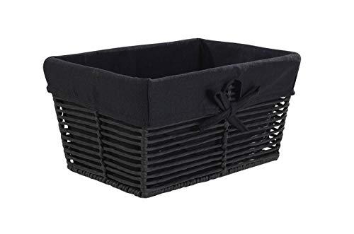 Aufbewahrungskorb Brotkorb Obstkorb Lebensmittelkorb KANTOR   Kunststoff mit schwarzem Stoff
