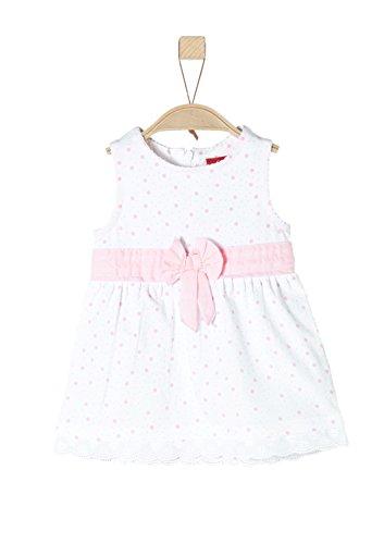 s.Oliver Baby-Mädchen 59.805.82.2900 Kleid, Weiß (White AOP 01b0), 86