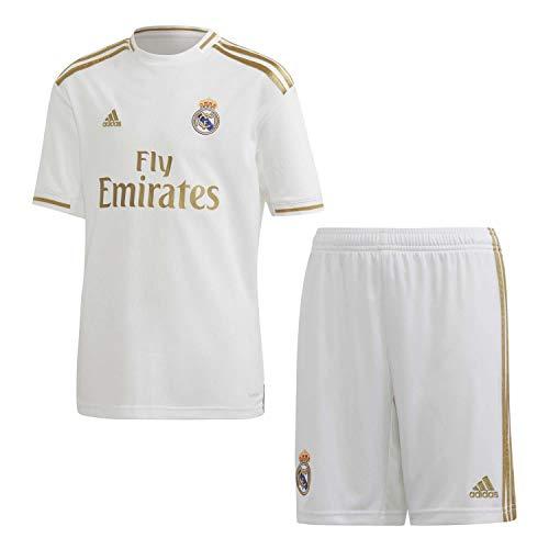 adidas Real H Y Kit Equipación, Unisex niños, Top:White Bottom:White, 152 (11/12 años)