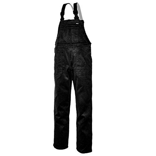EIKO Arbeits-Latzhose Genua Cord - schwarz - Größe: 54