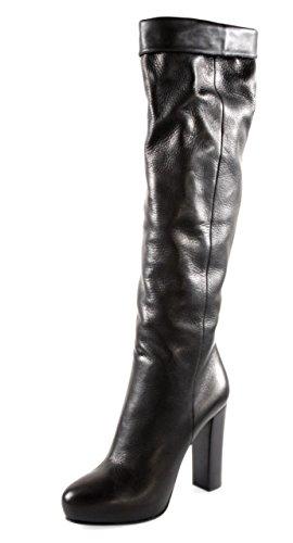 Prada Damen Schwarz Leder Stiefel 1WP089 39.5 EU