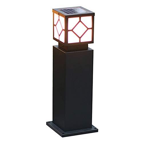 QILIN Lampada da Terra Solare, Lampada da Giardino per Esterni, Lampada da Giardino Impermeabile, Lampada da Giardino per Villa, Lampione da Giardino A Doppio Uso, Telecomando Intelligente, Nero