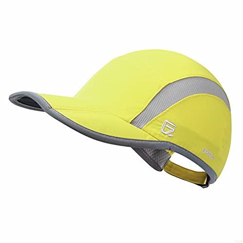 GADIEMENSS Quick Dry Sports Hat Lightweight Breathable Soft Outdoor Running Cap (Folding series, Fruit Green)