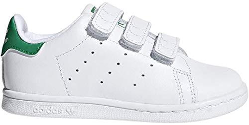 adidas Originals Kid's Unisex Stan Smith White/White/Green 11K