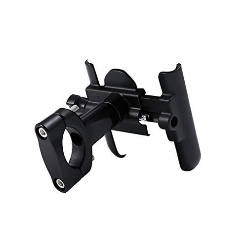 FOLOU Motorcycle Phone Mount, Adjustable Stable 360° Rotate Anti Shake Metal Bike Phone Holder for iPhone (11Pro Max, Xr, Xs Max, 8 Plus), Samsung Note10+,Galaxy S10 GPS Motorola LG, Huawei (Black)