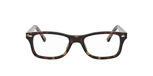 Ray-Ban 5228 Monturas de gafas, Dark Havana, 50 para Mujer