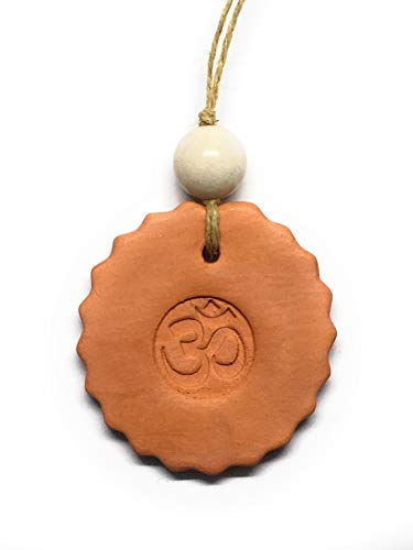Ohm Aum Om Yoga Ornament, White Quartz Gemstone, Home Office Car Essential Oil Diffuser, Safety Peace Calm