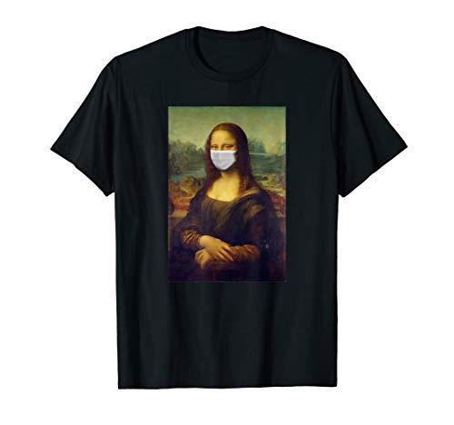 Mona Lisa Mundschutz Erkältung Influenza Grippe Virus T-Shirt