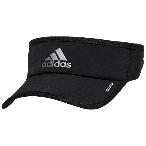 adidas Men's Superlite Performance Visor, Black/Silver Reflective, One Size