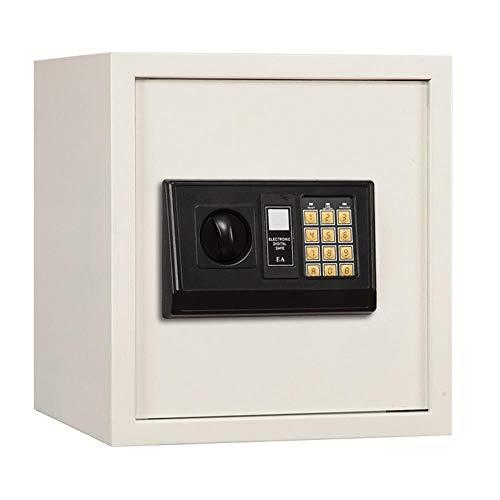 KDOAE Seguro de Acero Joyería Dinero Pasaportes de Acero sólido Digital Gabinete Caja de Seguridad for el hogar Negocios Office Hotel Protect para Casa (Color : White, Size : 39.3x35x31cm)