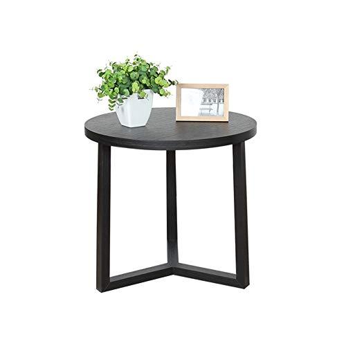 JIAHE115 Draagbare kleine salontafel Minimalistische moderne minimalistische woonkamer salontafel combinatie van massief hout kant kleine hoekbank Scandinavische creatieve kant van een kleine ronde tafel