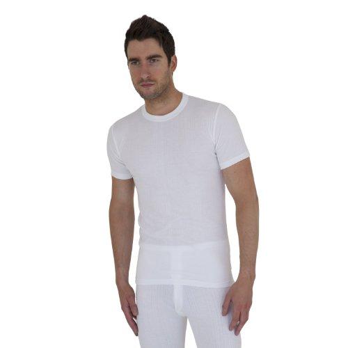 T-shirt thermique à manches courtes - Homme (XL Tour de poitrine 112-117cm) (Blanc)