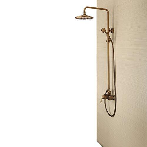 Lightinthebox Messing Antik Badewanne Dusche Wasserhahn mit 8 Zoll Duschkopf + Handbrause Duscharmatur Regenduschkopf Regenbrause