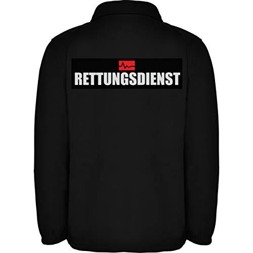 Rettungsdienst Herren Fleece Jacke Jacket Pullover Full Zip L17 black (S)