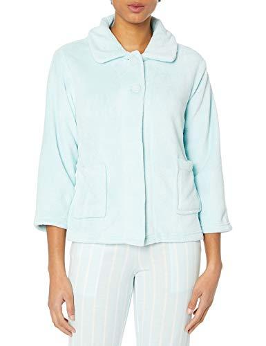 CASUAL MOMENTS Pan-Collar Bed Jacket
