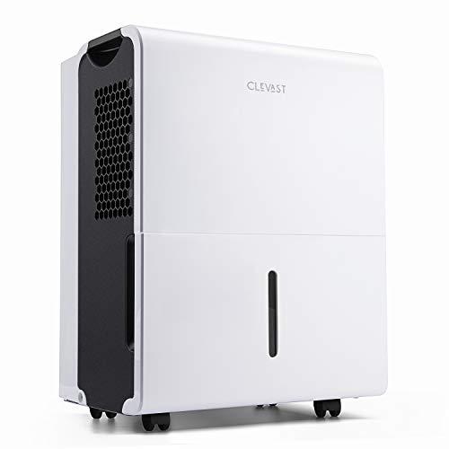 CLEVAST 1,500 Sq. Ft Energy Star Dehumidifier for Home, Basement, Living Room, Garage or Closet - Efficiently Removes Moisture to Prevent Molds, Mildew and Allergens, UL Listed