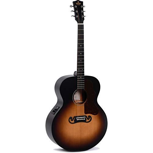Sigma Guitars GJM-SGE+ Grand Jumbo - Guitarra eléctrica, color amarillo