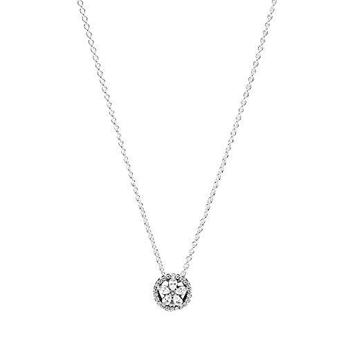 Pandora - Collana con ciondolo a forma di fiocco di neve, in argento Sterling, 45 cm