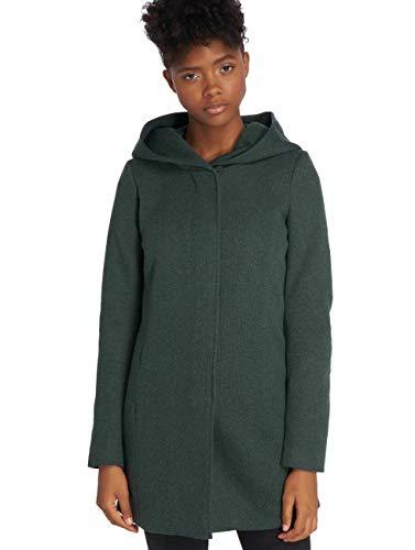 ONLY Damen Onlsedona Mantel, Mehrfarbig(Green GablesMelange), Medium