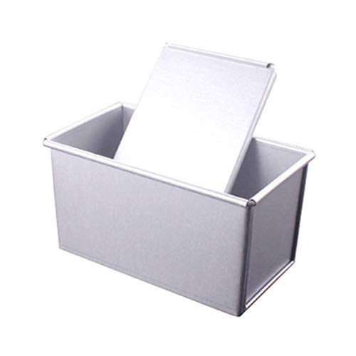 Yardwe Baking Bread Pan Loaf Pan Nonstick Bakeware Aluminum Bread Pan With Lids for Baking Banana Bread Meat Loaf Pound Cake
