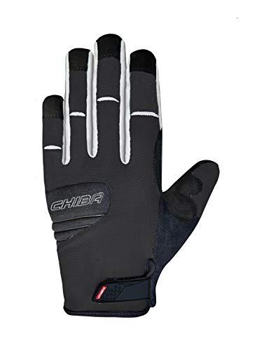 Chiba Titan Fahrrad Handschuhe lang schwarz/weiß 2019: Größe: XL (10)
