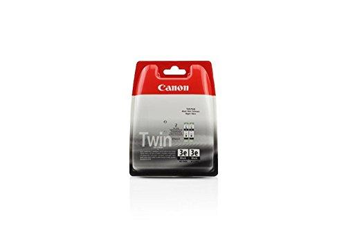 Canon 4479A028   BCI-3EBK - Cartuccia per stampante Pixma IP 5000 2 x Premium, 1000 pagine, 27 ml, colore: Nero