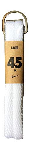 Nike Unisex Flat Replacement Shoelaces 45 Flat White
