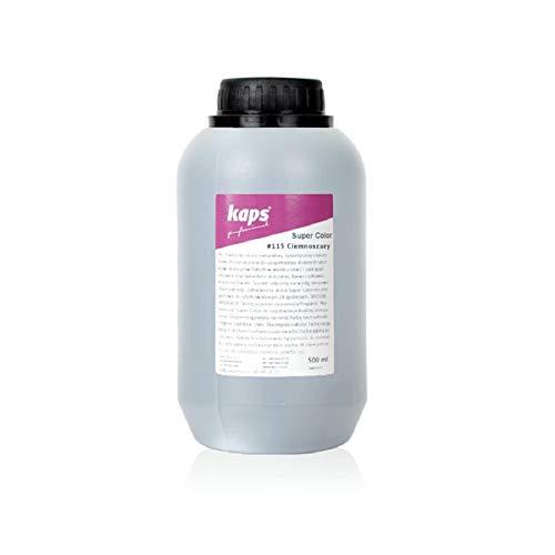Lederfarbe für Naturleder, Sythetik und Textil. Entwickelt Super Color Kaps 500ml, Dunkelgrau 115
