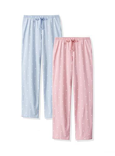 Femofit 2 Confezioni Pantaloni Lunghi Pigiama Estivi da Donna con Tasche Pantaloni in Cotone Pj per Donna S-XL