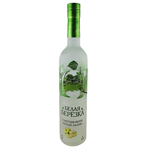 Vodka White Birch Apfel 0,5L russischer Premium Wodka mit Birkensaft