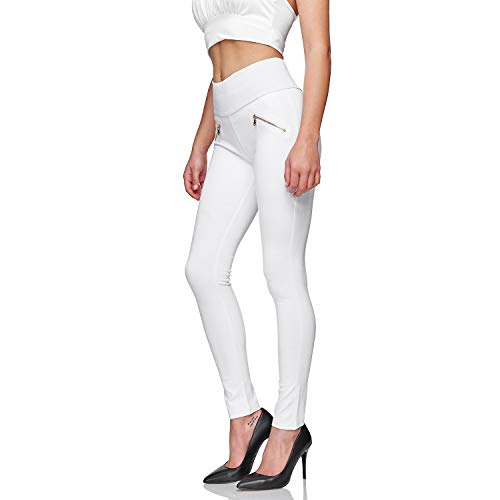 Glamexx24 Damskie spodnie ze streczu, Skinny Fit, legginsy z wysokim stanem