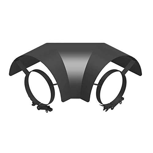 Ø 150mm Ofenrohr Strahlungsschutz Bogen 90° liegend schwarz - 2 mm Stahlblech - Senotherm-Beschichtung - für den Sichtbereich geeignet. - Hitzeschutzblech - Ofenrohrschutzblech