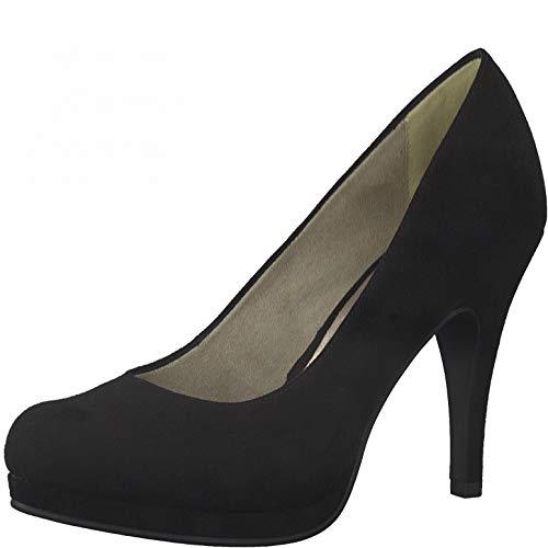 Tamaris Damen Plateaupumps, Frauen Pumps,Court,Shoes,Absatzschuhe,stöckelschuhe,Abendschuhe,high,Heels,Stilettos,Plateau-Sohle,Black,40 EU / 6.5 UK