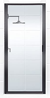 """Coastal Shower Doors P23.83O-C Paragon Series Framed Continuous Hinge Shower Door in Clear Glass, 23"""" x 82"""", Black Bronze"""