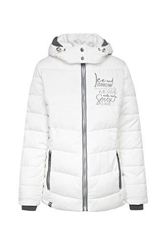 SOCCX Damen Winterjacke mit abtrennbarer Kapuze