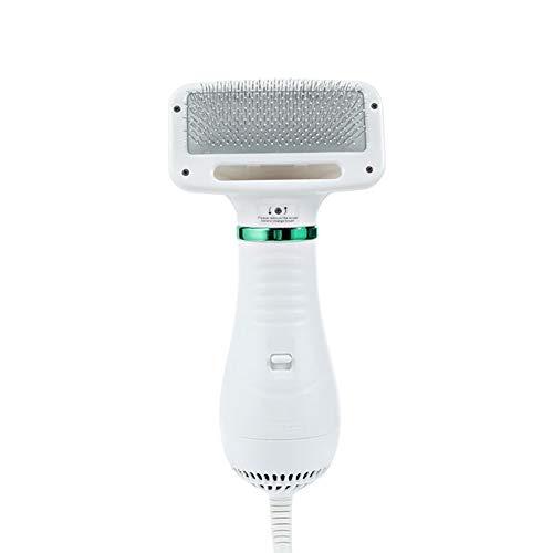 Raburt Dog Hair Dryer Pet Groom Hair Blower with Slicker Brush Adjustable Temperature 2 Settings Low Noise Hair Styling