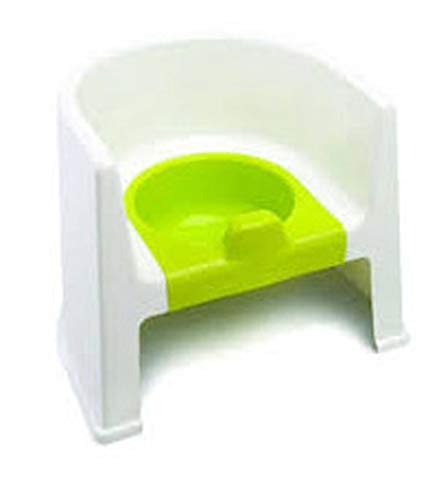 The Neat Nursery Co. Potty Chair, 907 White/Lime, 0.74 kg 5055378201387